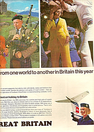 Bea Trident Airlines - Great Britain Ad 1967