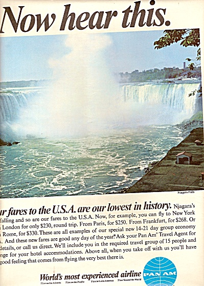 Pan Am Airlines Ad 1967