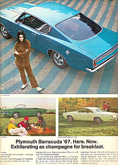 Plymouth Barracuda For 1967 Ad