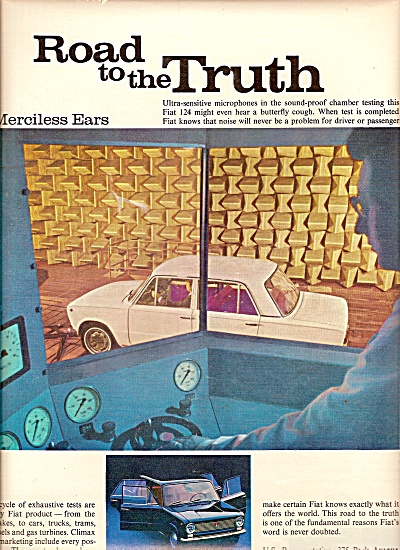 Fiat Automobile Ad 1967