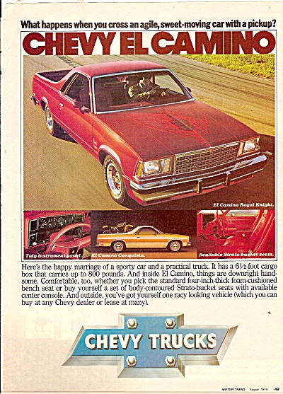 Chevrolet Trucks Ad 1979 El Camino Car - Wagon