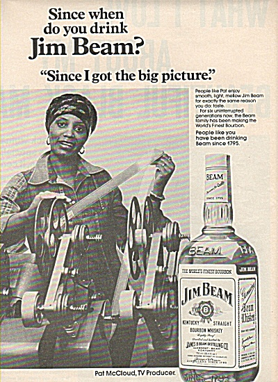 Jim Beam bourbon whiskey ad 1978 PAT McCLOUD (Image1)