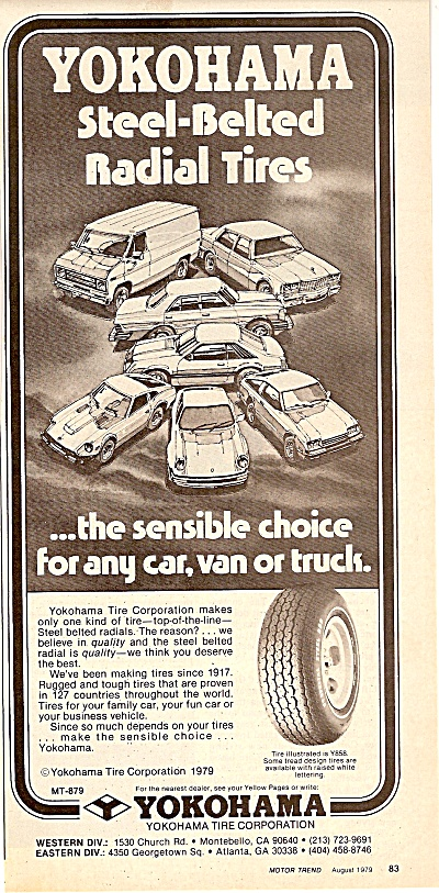 Yokohama tire corporation ad 1979 (Image1)