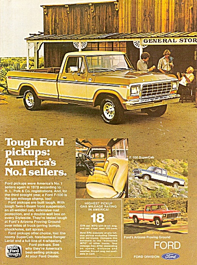 Ford Trucks Ad 1979 Number One Sellers