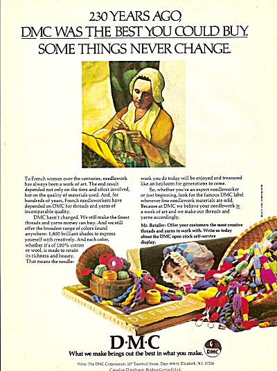 D-M-=C  threads and yarns ad 1977 (Image1)