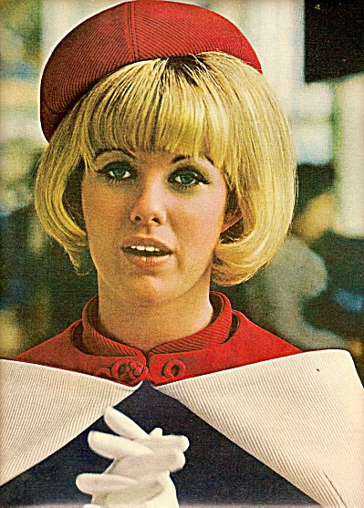 American Airlines Ad 1969 Stewardess