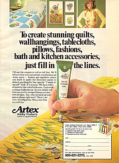 Artex hobby products ad 1977 (Image1)