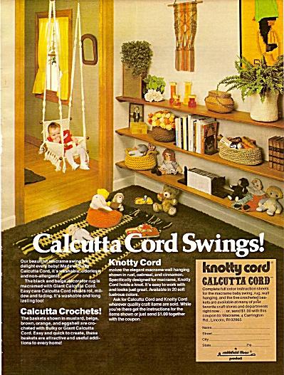 Calcutta cord swings ad 1977 (Image1)