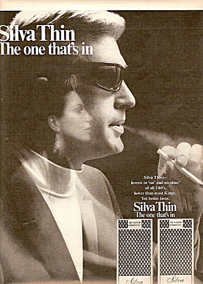 Silva Thins cigarettes ad 1969 (Image1)