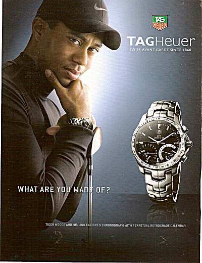 Tag Heuer watch - TIGER WOODS  ad 2007 (Image1)