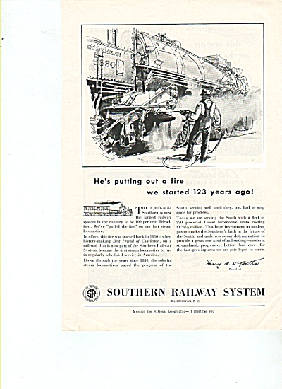 Southern Railway System Ad 1953