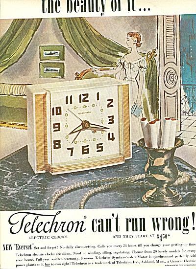 Telechron electric clocks ad 1951 (Image1)