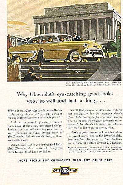 Chevrolet automobile ad 1953 (Image1)