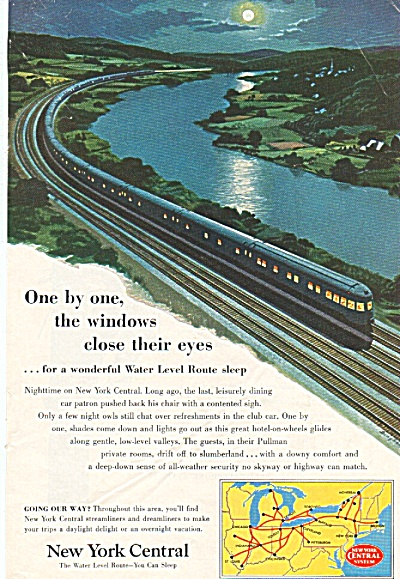 New York Central Ad 1953