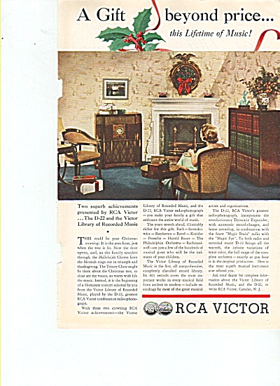 RCA Victor radio ad 1935 ~ Model D-22 and RADIO (Image1)