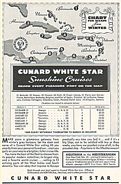 Cunard White Star  Line ad 1935 (Image1)