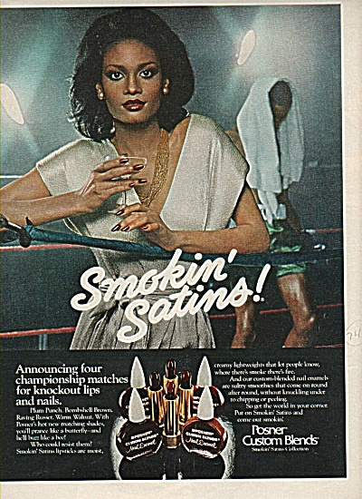 1978 Posnel Lips / Nails Ad Black Model