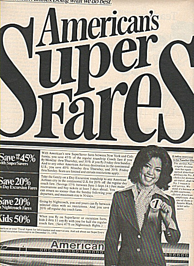 American Airlines ad 1978 SUPER FARES (Image1)