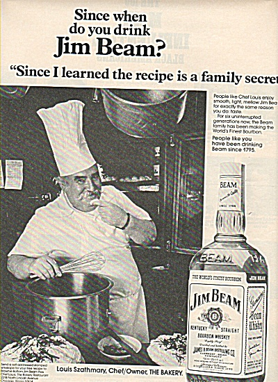 Jim Beam bourbon whiskey ad 1978 FAMILY SECRET (Image1)
