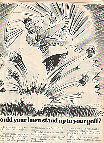 Scott's Turf Builder GOLF ITT COMPANY  ad 1978 (Image1)