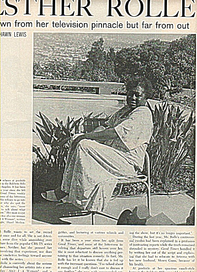 ESTHER ROLLE - Television star story - 1978 (Articles