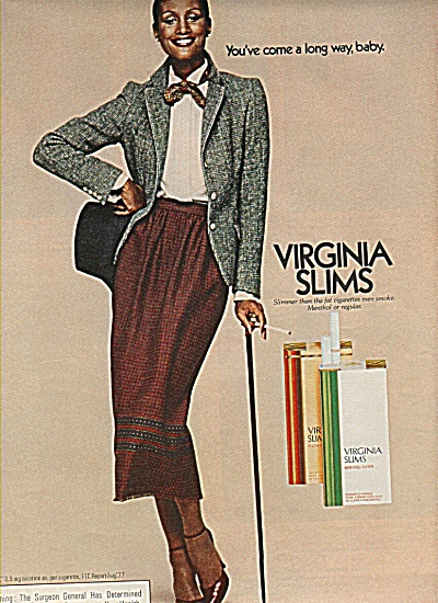 Virginia Slims cirgarettes ad 1978 (Image1)