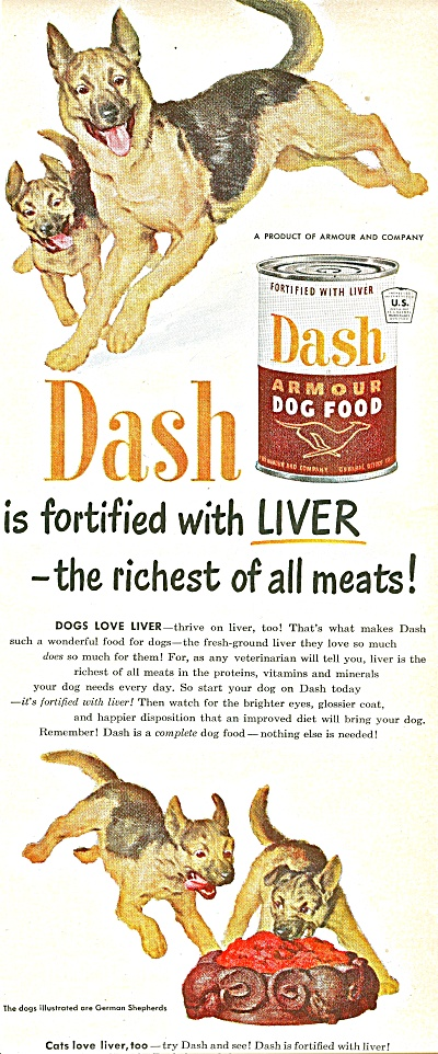 Armour Dash dog food ad 1951 (Image1)