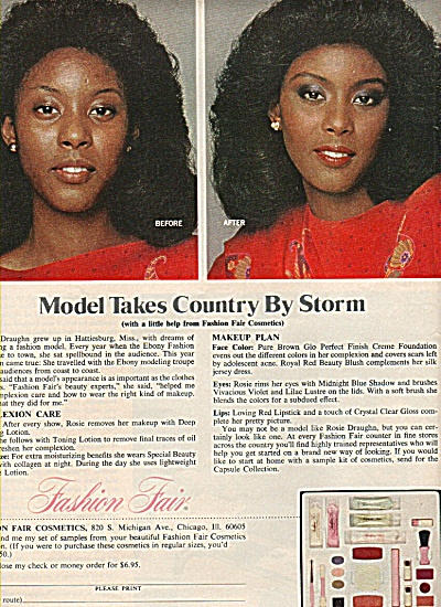 Fashion Fair cosmetics ad 1978 MODEL (Image1)