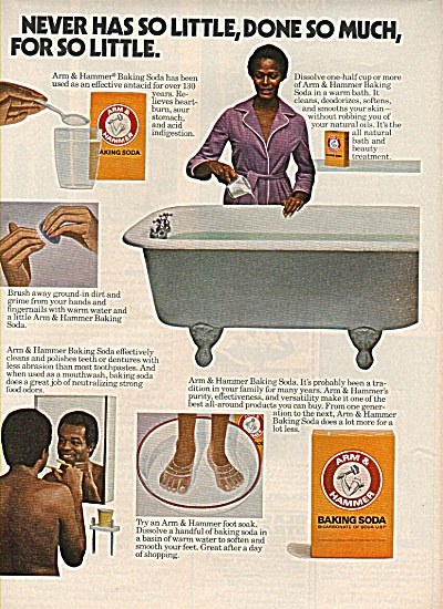 Arm & Hammer baking soda ad 1978 BLACK FAMILY (Image1)