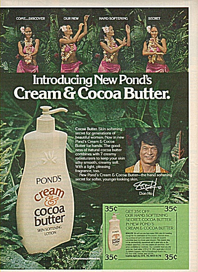 Pond's cream skin softening lotion ad 1978 (Image1)