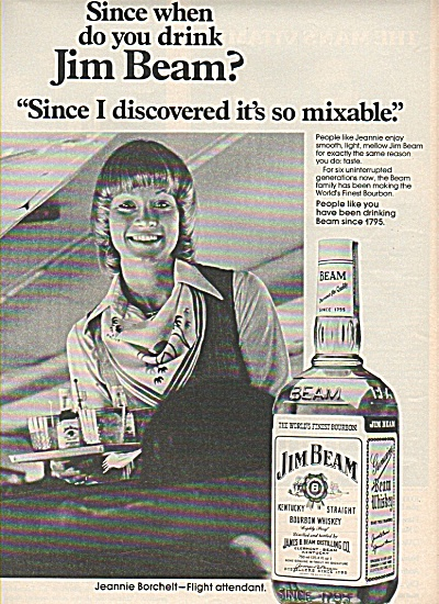 Jim Beam bourbon whiskey ad 1978 MIXABLE (Image1)