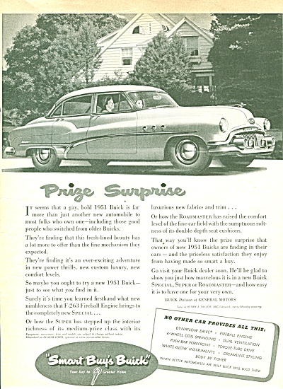 Buick Automobile For 1951 Ad