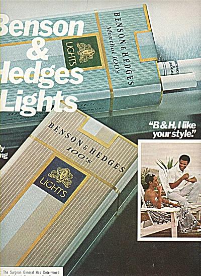Benson & Hedges lights ad 1978 (Image1)