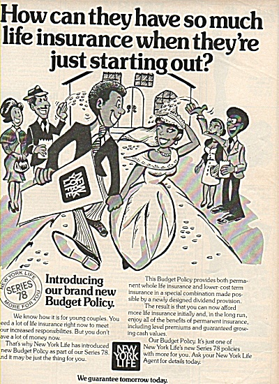 New York Life Insurance ad 1978 #2 (Image1)
