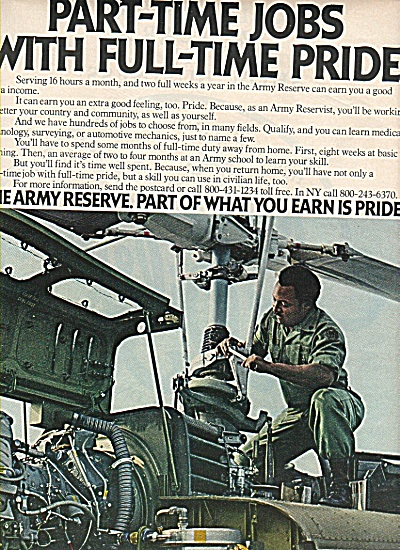 The Army reserve ad 1978 Full Time PRIDE (Image1)