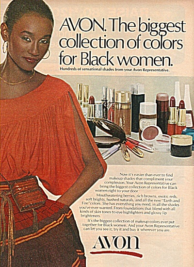 Avon products ad 1978 FOR BLACK WOMEN (Image1)