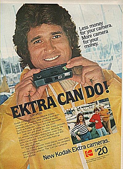 New Kodak Ektra Cameras- MICHAEL LANDON  ad (Image1)