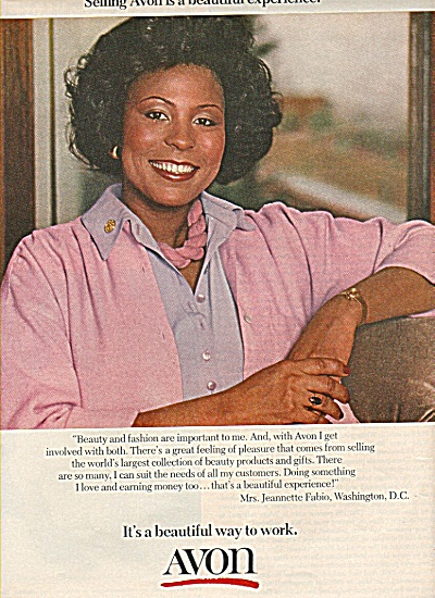 Avon Products Ad 1978 Jeannette Fabio