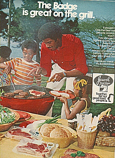 Jewel  Food Stores ad 1978 BADGE ON GRILL (Image1)