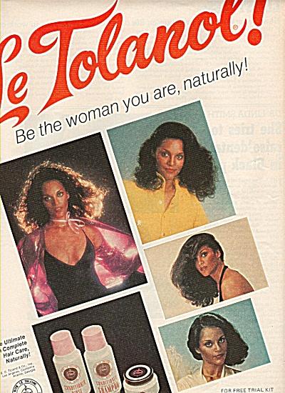 Le Tolanol shampoo and rinse ad 1978 (Image1)