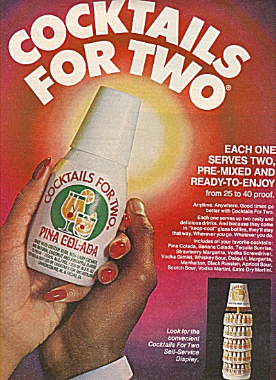 Cocktails for two-  Pina colada ad 1978 (Image1)