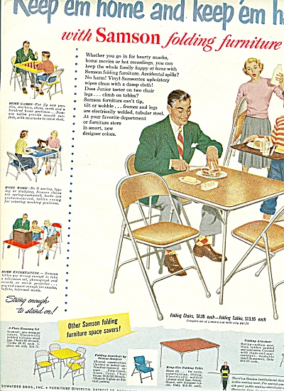 Samson folding furniture ad 1951 (Image1)