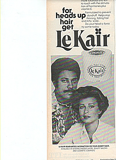 Lekair Hair Treatment Ad 1978