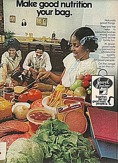 Jewel Food Stores Ad 1978 Black Family