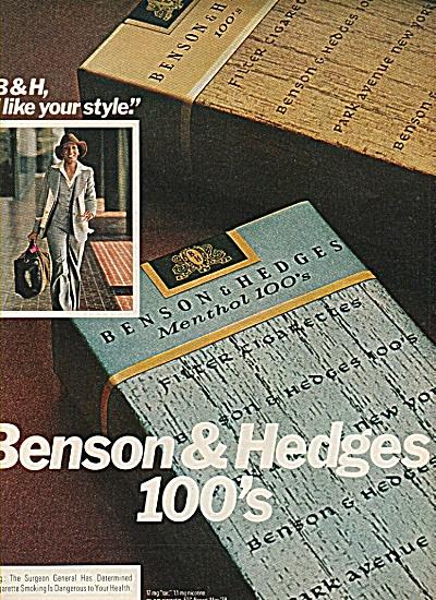 Benson & Hedges 100's.  ad 1978 (Image1)