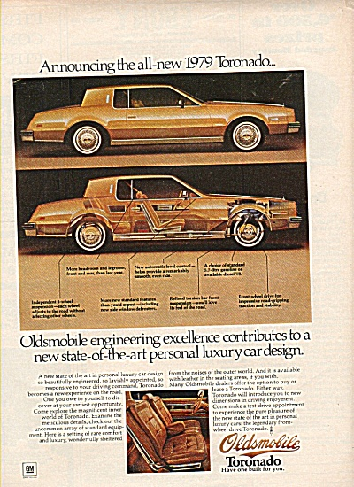 Oldsmobile Toronado For 1979 Ad