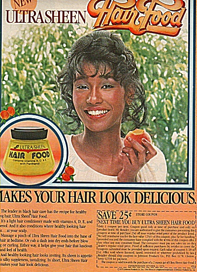 Ultra sheen hair food ad 1978 (Image1)