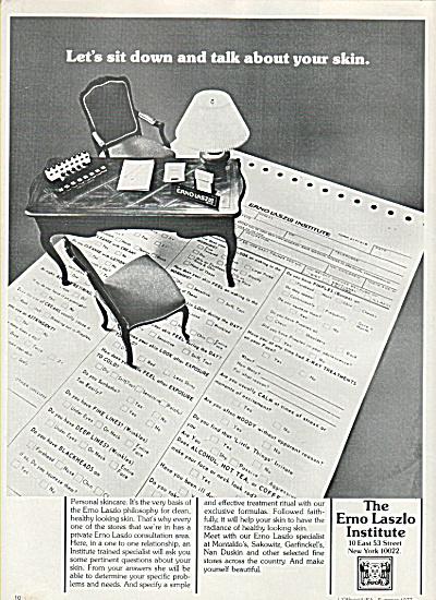 The Erno Laszlo Institute ad 1977 (Image1)
