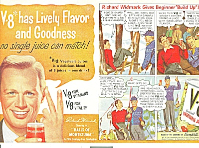 V-8 vegetable juices - RICHARD WIDMARK  ad (Image1)