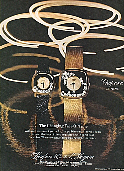 Caykin et Cic at L. Magnum watches ad 1977 (Image1)